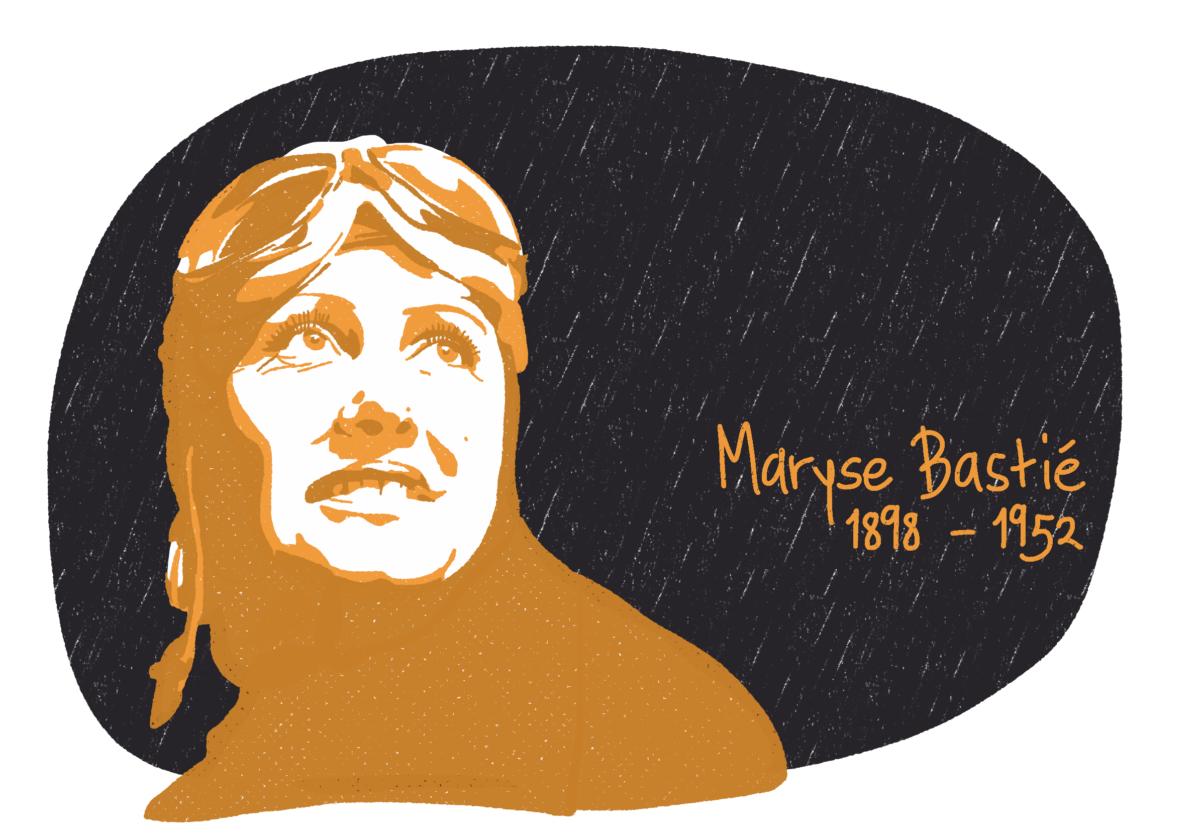Portrait de Maryse Bastié, femme de la Résistance