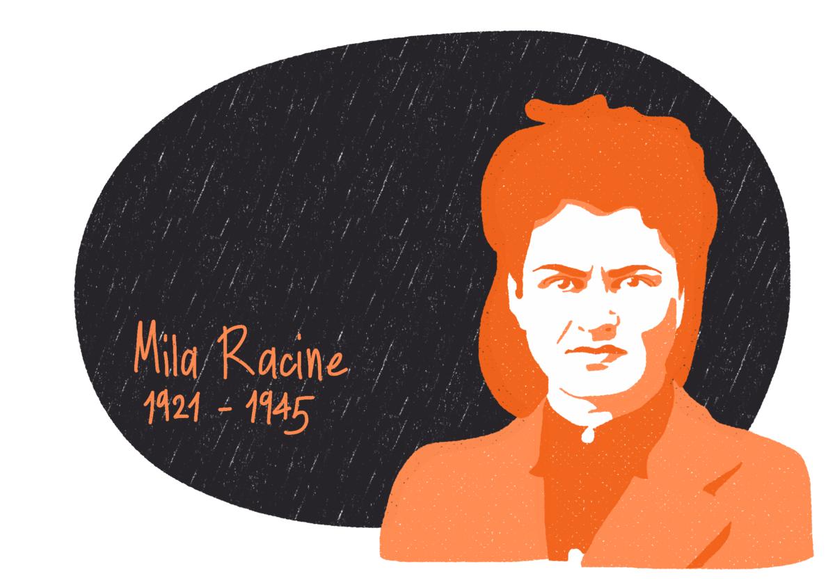 Portrait de Mila Racine, femme de la Résistance