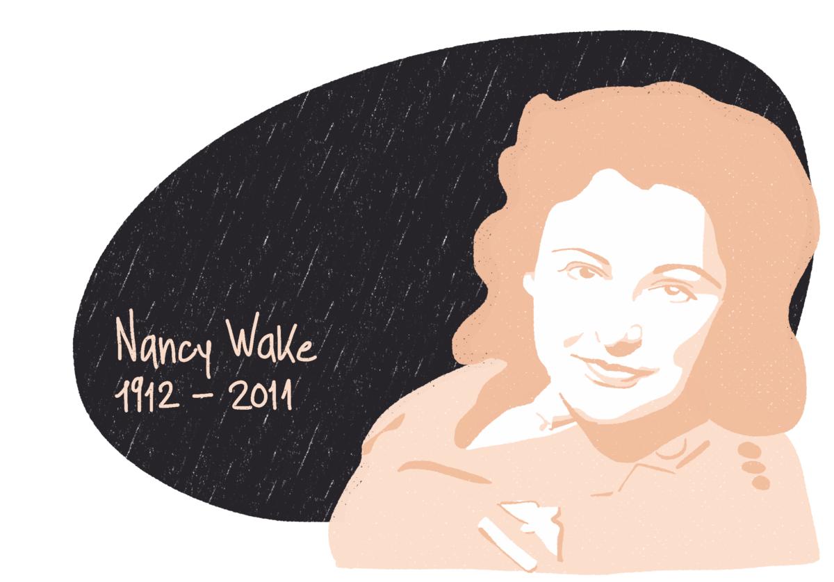Portrait de Nancy Wake, femme de la Résistance