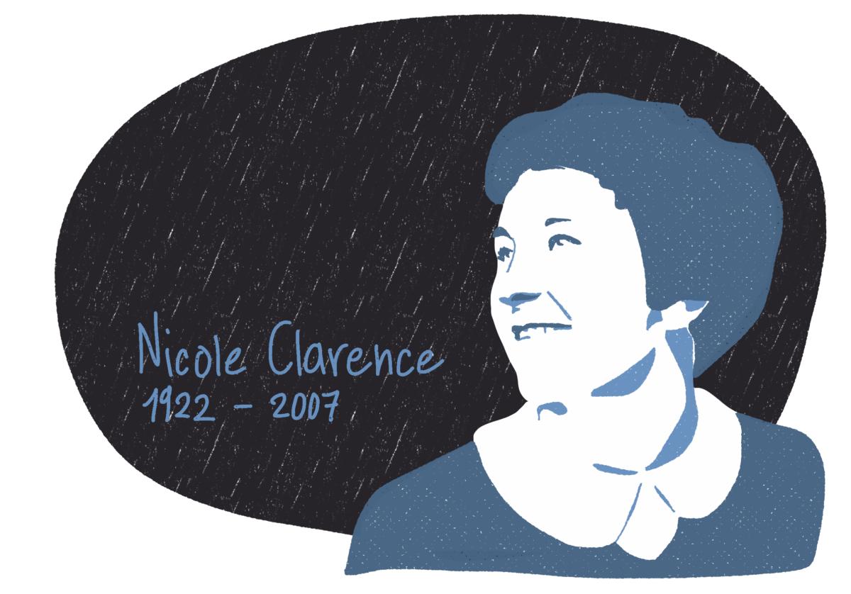 Portrait de Nicole Clarence, femme de la Résistance