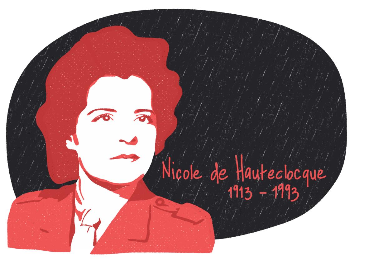 Portrait de Nicole de Hateclocque, femme de la Résistance