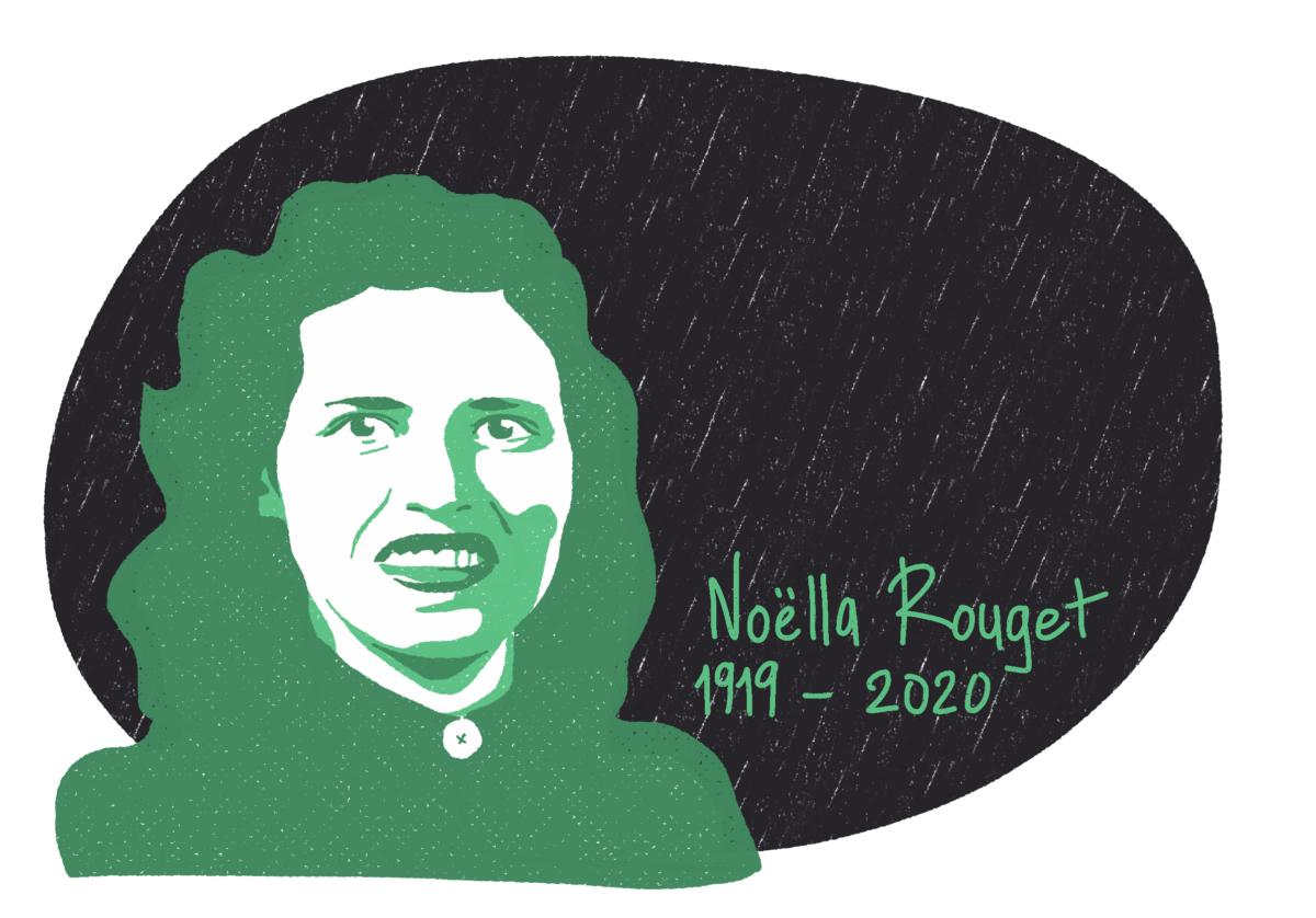 Portrait de Noëlla Rouget, femme de la Résistance