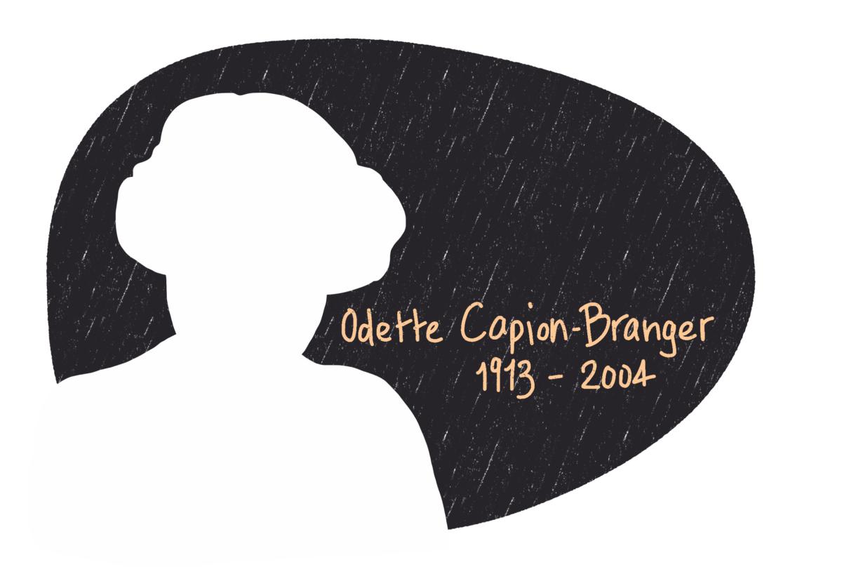 Portrait de Odette Capion-Branger, femme de la Résistance