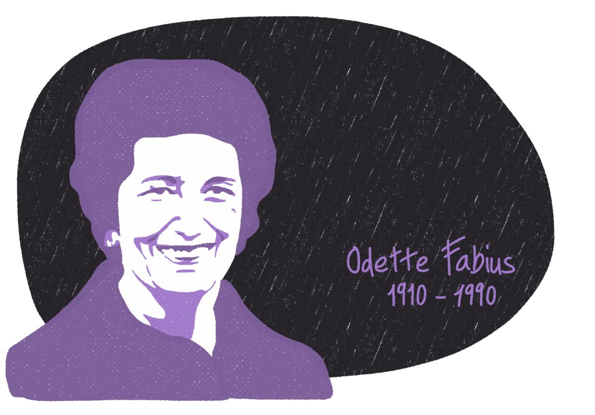 Portrait de Odette Fabius, femme de la Résistance