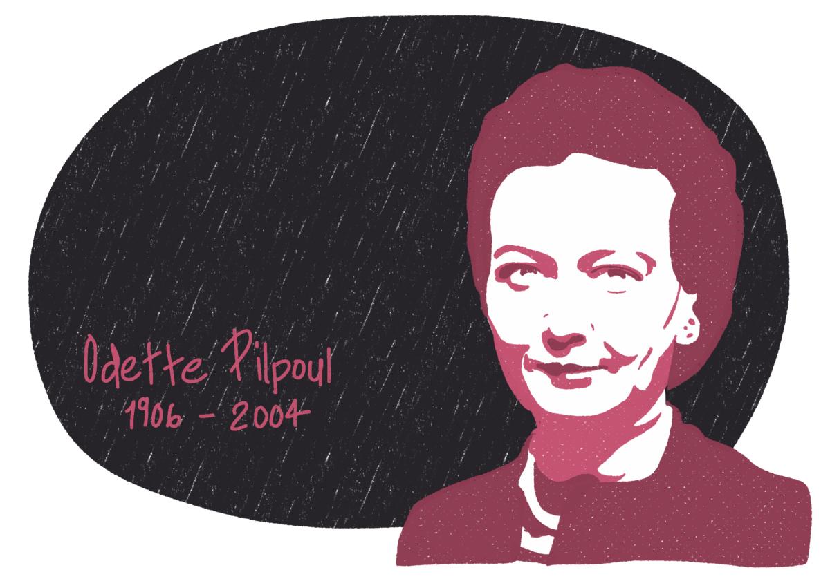 Portrait de Odette Pilpoul, femme de la Résistance
