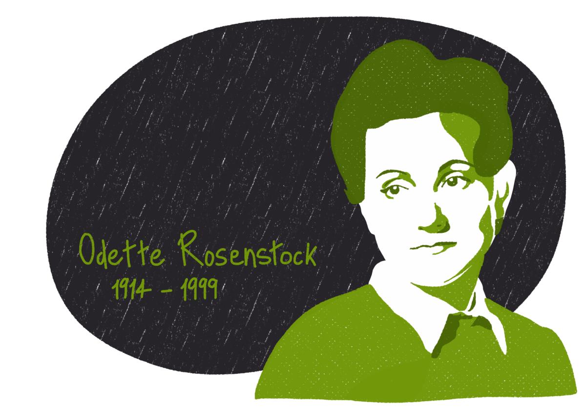Portrait de Odette Rosenstock, femme de la Résistance