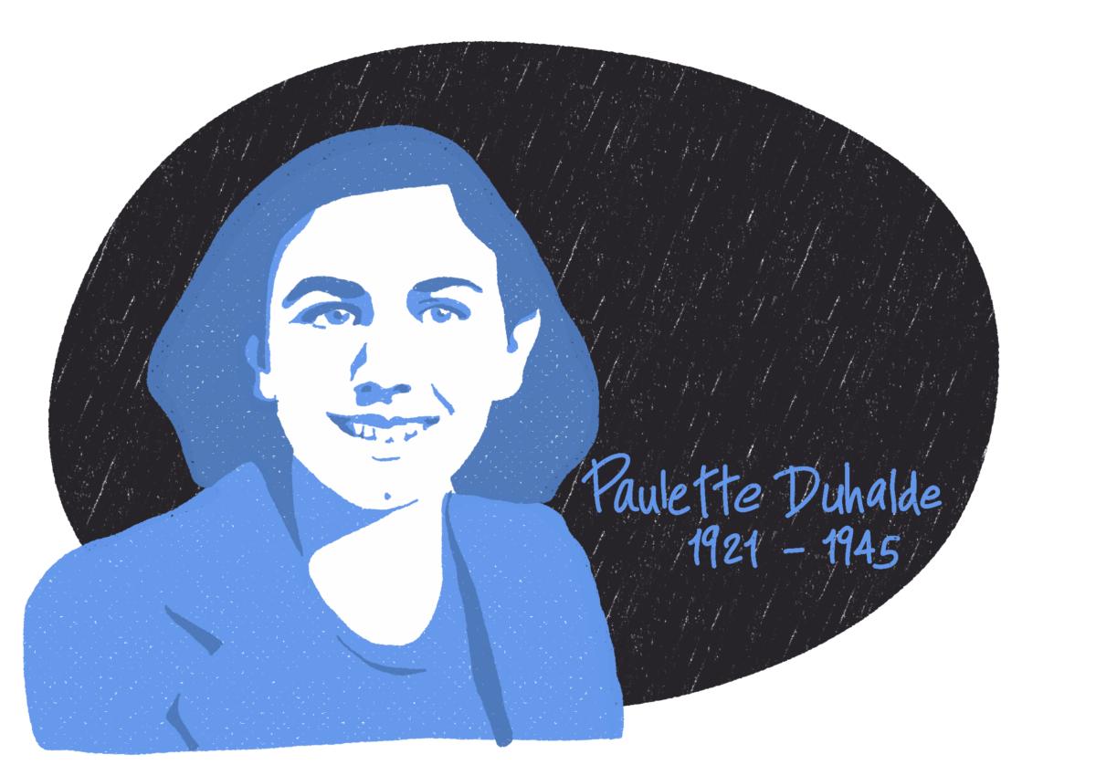 Portrait de Paulette Duhalde, femme de la Résistance