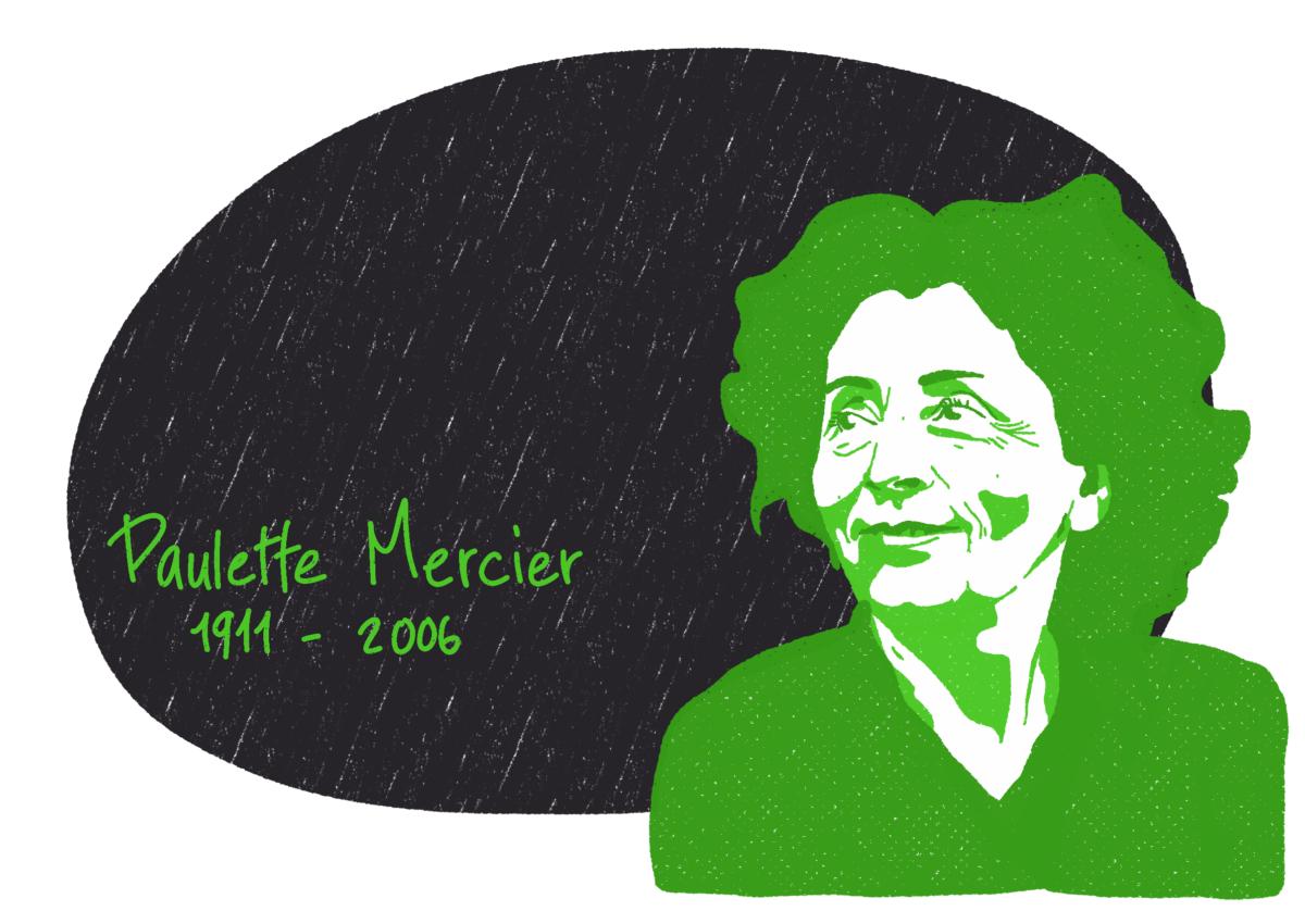Portrait de Paulette Mercier, femme de la Résistance