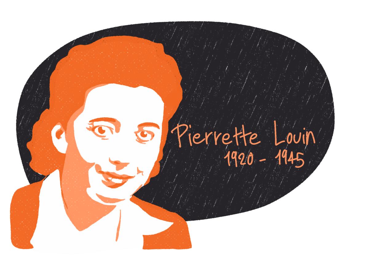 Portrait de Pierrette Louin, femme de la Résistance