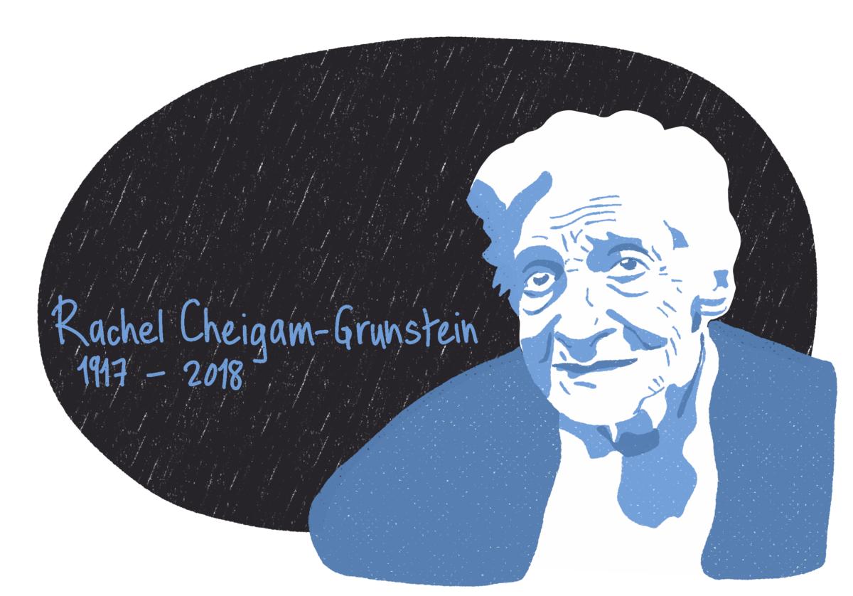 Portrait de Rachel Cheigam-Grunstein, femme de la Résistance