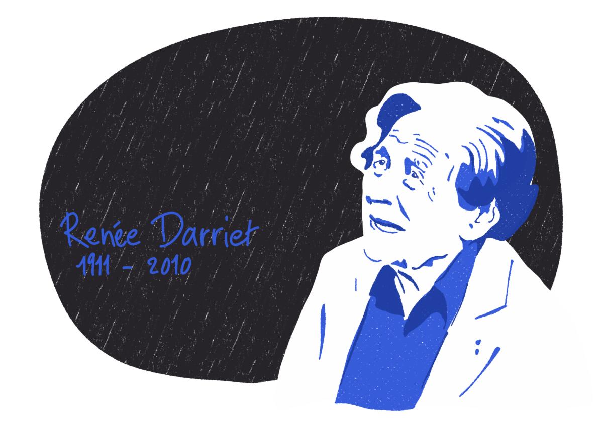 Portrait de Renée Darriet, femme de la Résistance