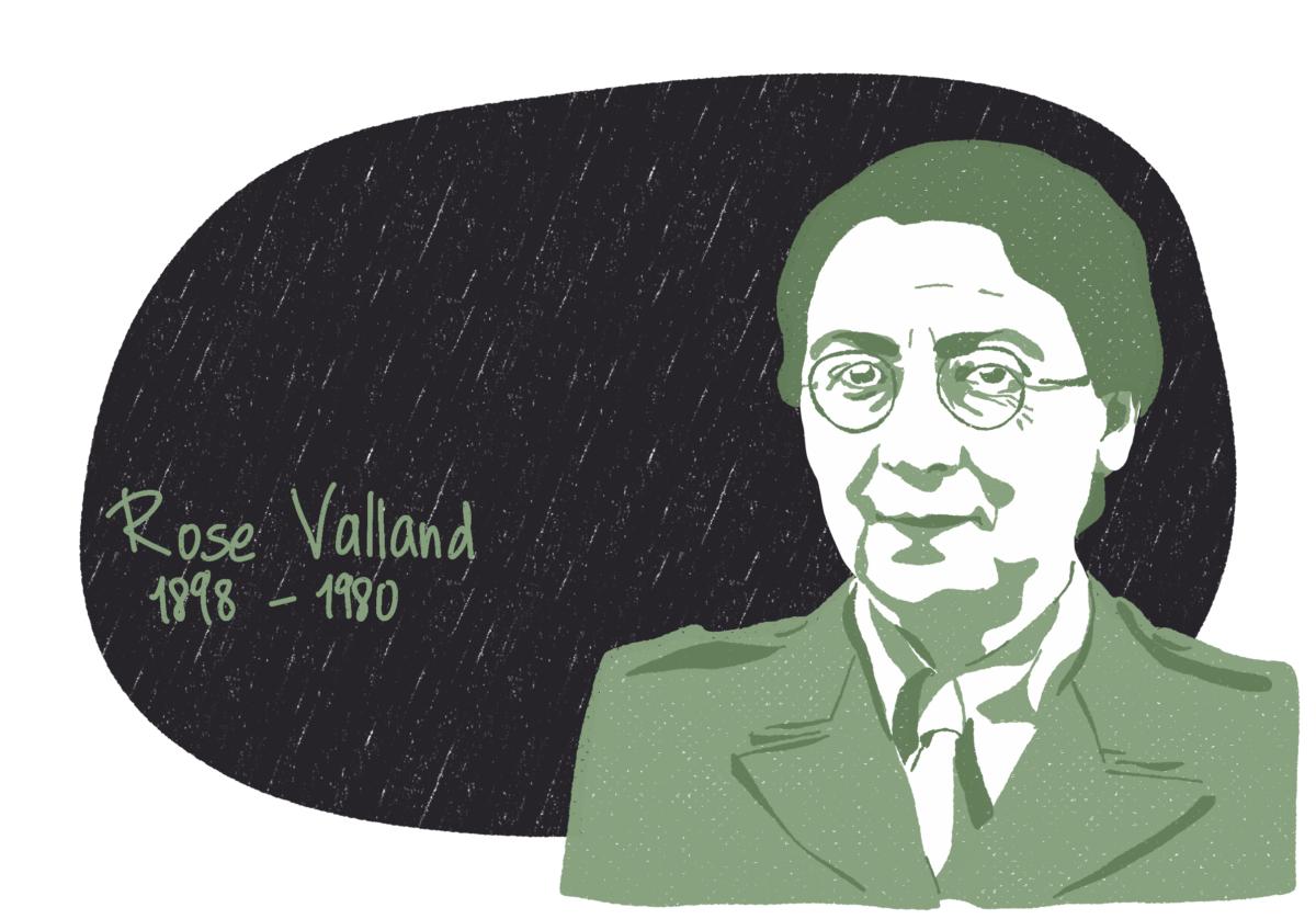 Portrait de Rose Valland, femme de la Résistance