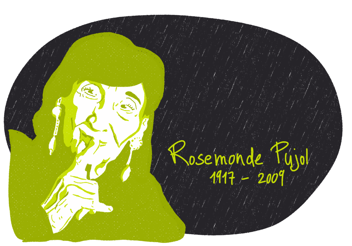 Portrait de Rosemonde Pujol, femme de la Résistance