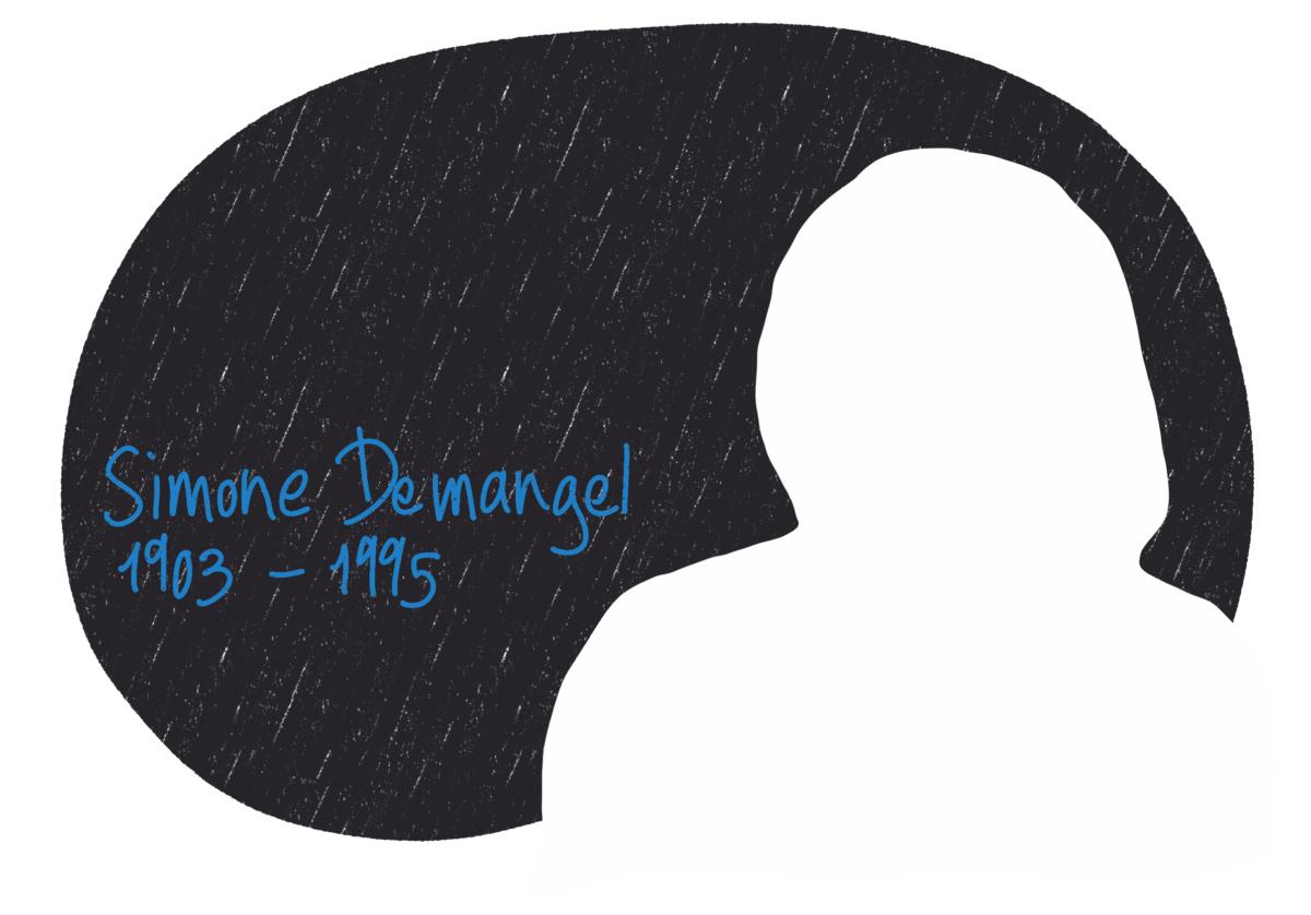 Portrait de Simone Demangel, femme de la Résistance