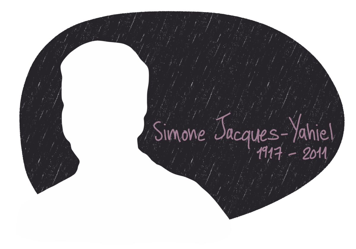 Portrait de Simone Jacques-Yahiel, femme de la Résistance