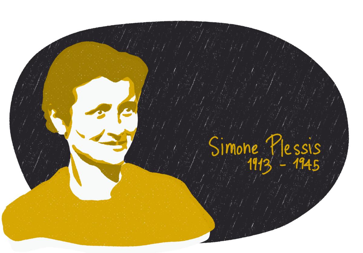 Portrait de Simone Plessis, femme de la Résistance