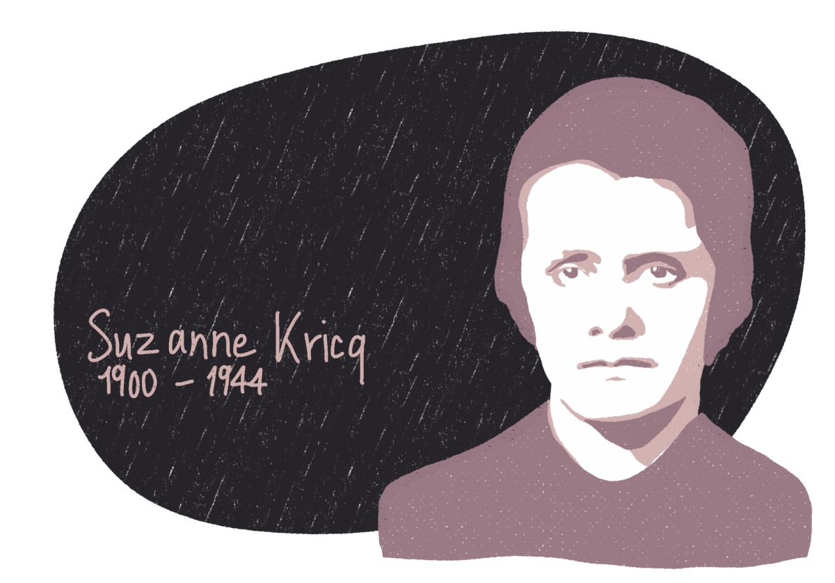 Portrait de Suzanne Kricq, femme de la Résistance