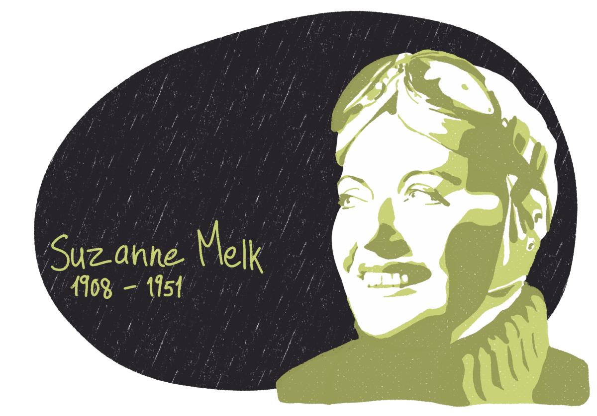 Portrait de Suzanne Melk, femme de la Résistance
