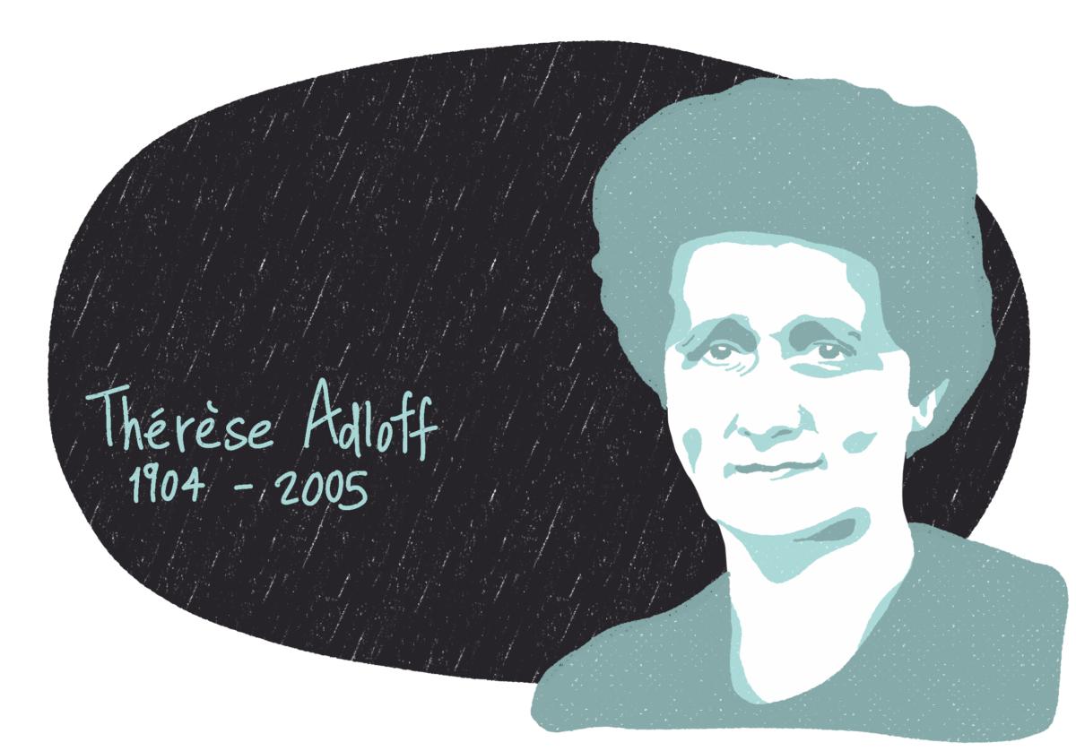 Portrait de Thérèse Adloff, femme de la Résistance