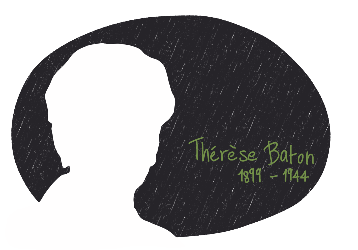 Portrait de Thérèse Baton, femme de la Résistance