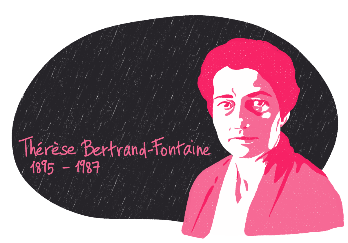 Portrait de Thérèse Bertrand-Fontaine, femme de la Résistance