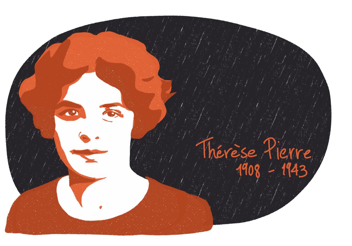 Portrait de Thérèse Pierre, femme de la Résistance