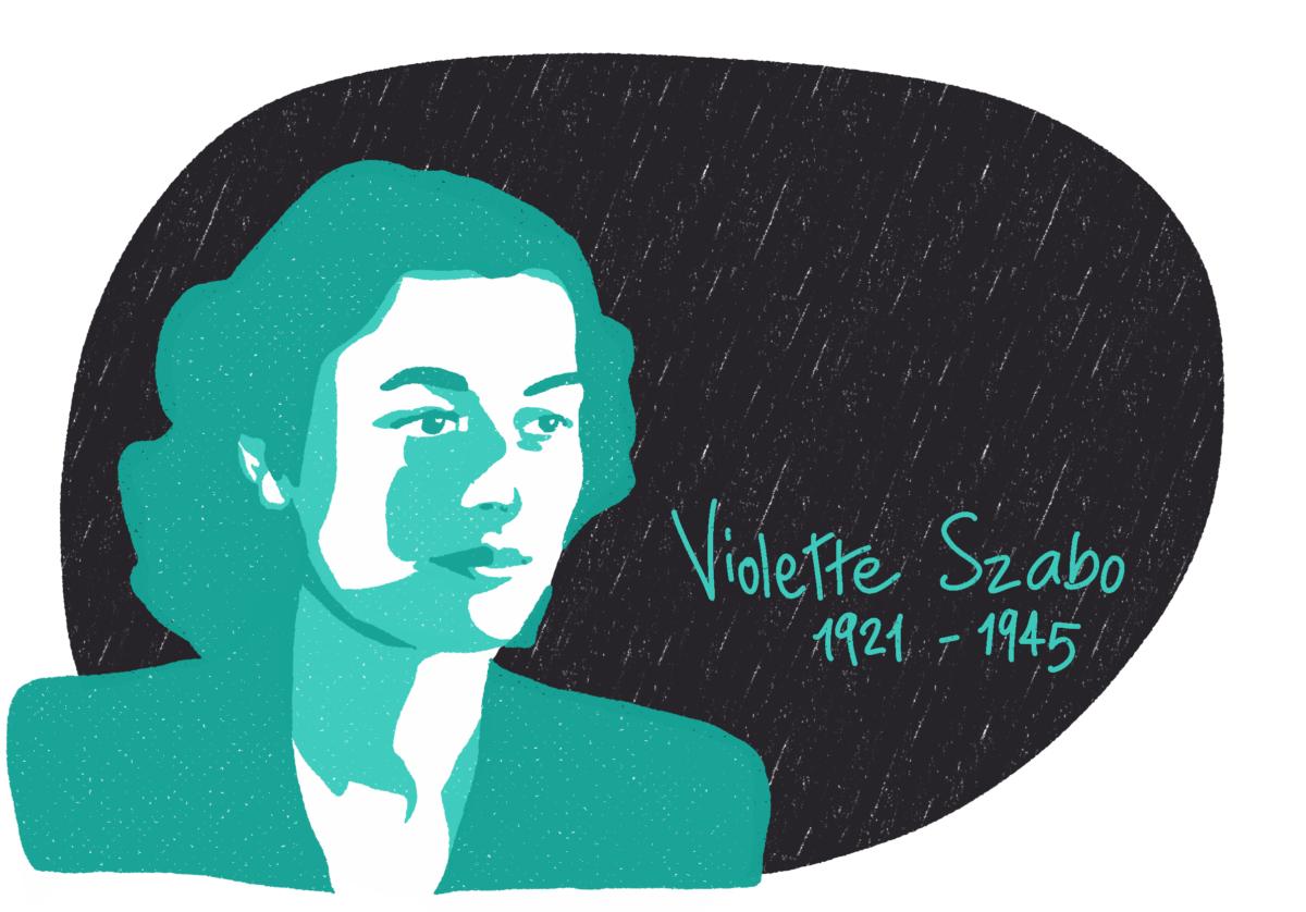 Portrait de Violette Szabo, femme de la Résistance