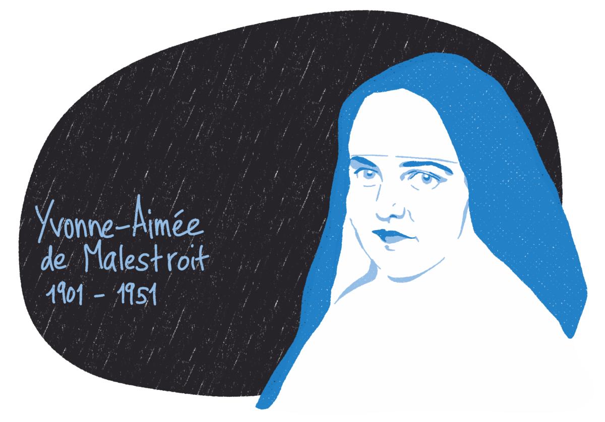 Portrait de Yvonne-Aimée de Malestroit, femme de la Résistance