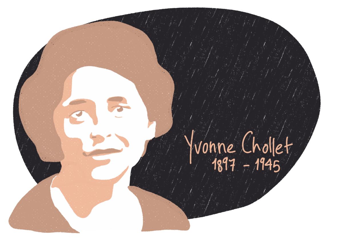 Portrait de Yvonne Chollet, femme de la Résistance