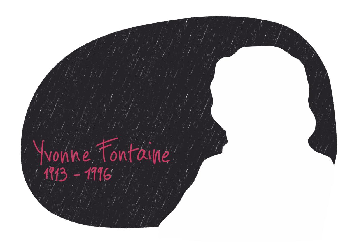 Portrait de Yvonne Fontaine, femme de la Résistance