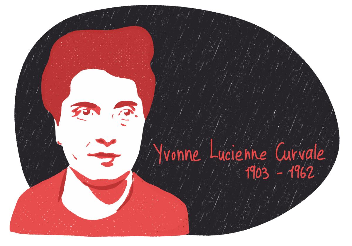 Portrait de Yvonne Lucienne Curvale, femme de la Résistance