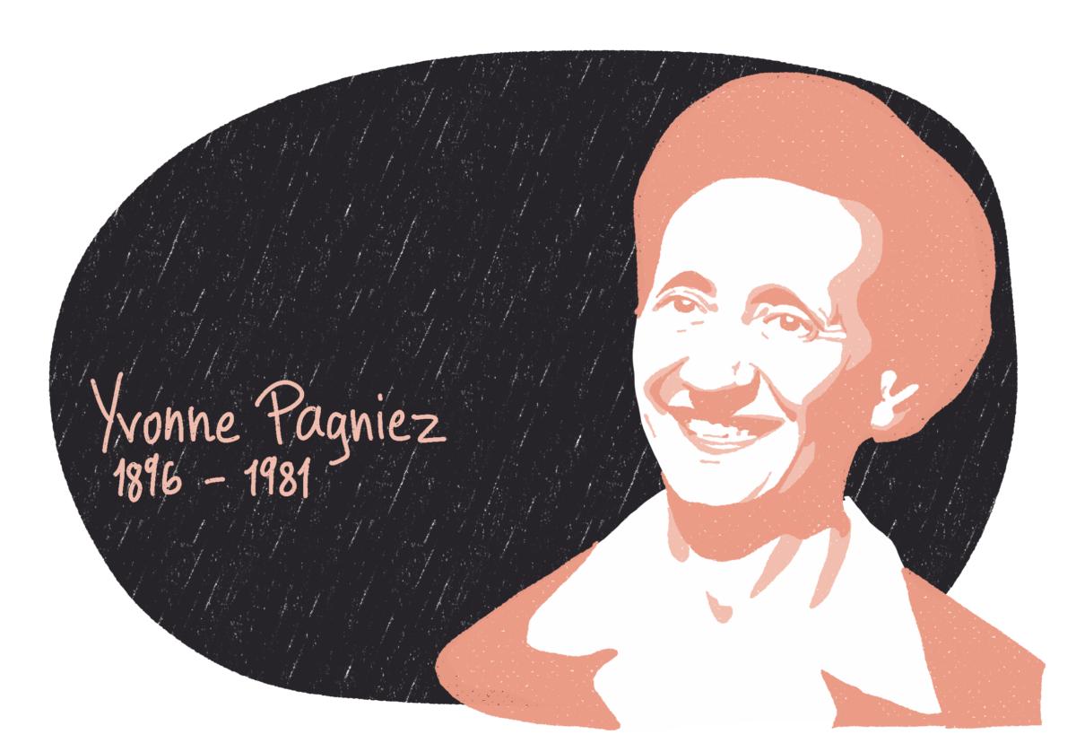 Portrait de Yvonne Pagniez, femme de la Résistance