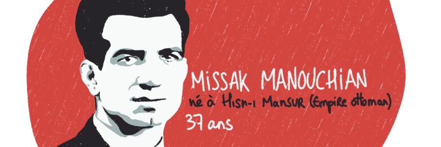 Portrait de Missak Manouchian, résistant MOI du groupe Manouchian