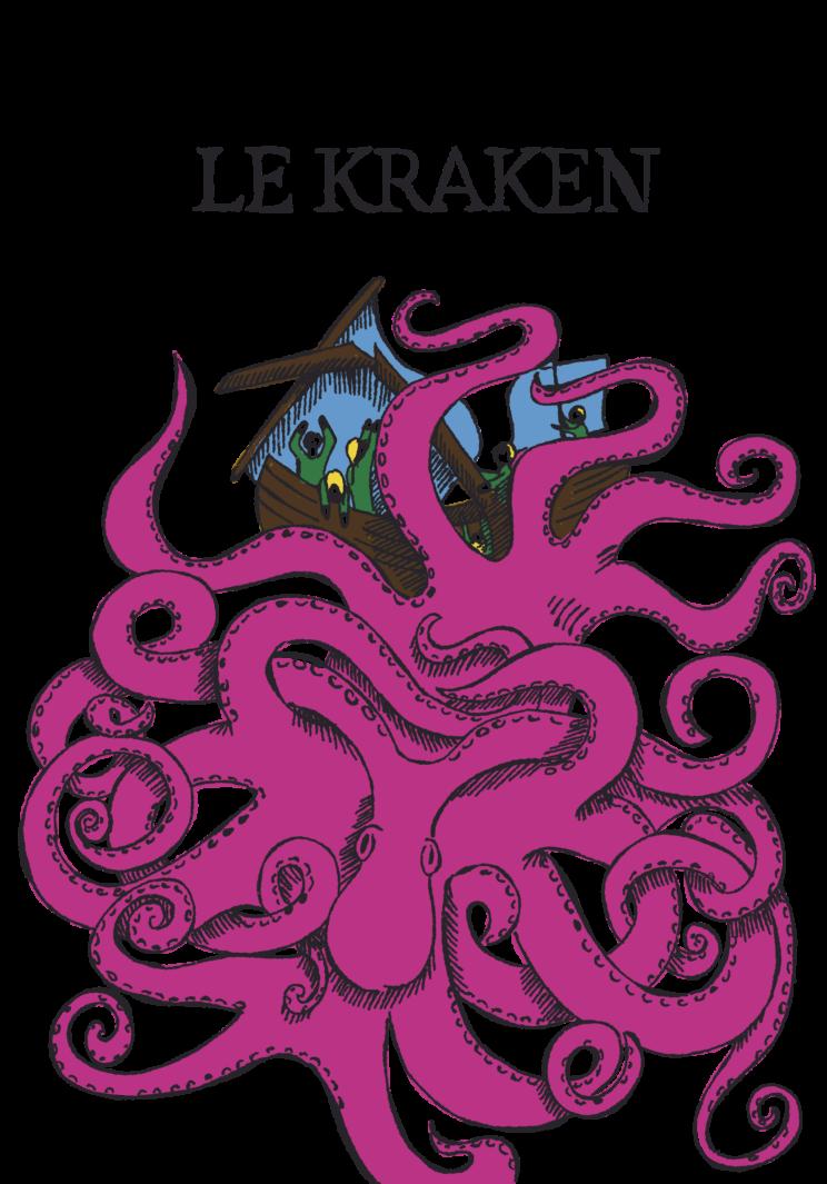 Illustration de style médiéval représentant le kraken