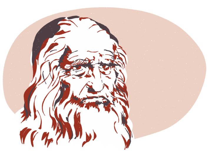 Portrait de Léonard de Vinci