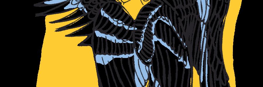Illustration de séraphin, ange à 6 ailes